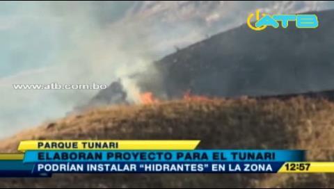 Gobierno invertirá Bs 200 mil para frenar incendios en el Parque Tunari