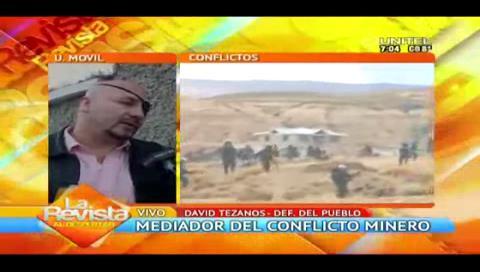 """Defensor dice que las peticiones de los mineros deben estar enmarcadas dentro de los intereses del Estado"""""""