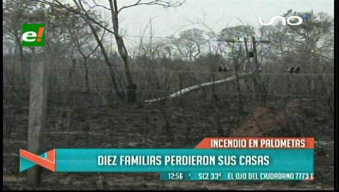 Piden declarar zona de desastre por incendios a la comuna de Santa Rosa