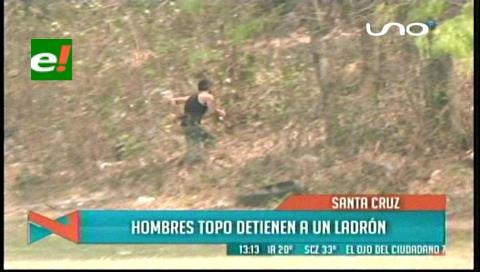 Hombres 'topos' detienen a un ladrón y frustran un robo