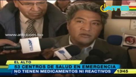 53 centros de salud de El Alto paran por falta de medicamentos