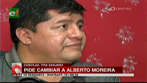 Concejal Sanjinés pide cambiar al Secretario de Seguridad Ciudadana