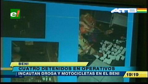 Beni: Detienen a cuatro personas con cocaína y motos robadas
