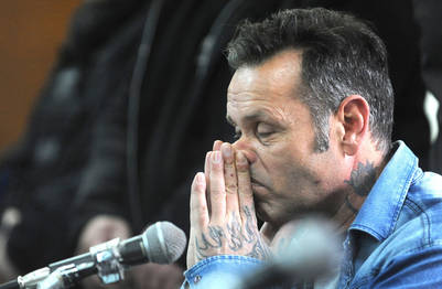 La justicia penal platense condenó hoy al disc jockey Jorge Cristian Martínez Poch a 37 años de prisión por la violación y el secuestro de una de sus parejas y el abuso sexual de sus dos hijas. (Mauricio Nievas)