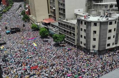 Una vista de la marcha opositora. (AFP)