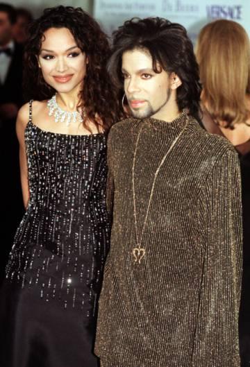 Mayte García, con Prince.