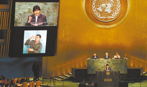 Morales y su participación en la ONU en 2015