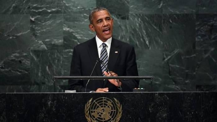 Barack Obama habla ante la Asamblea General de la ONU. / AFP