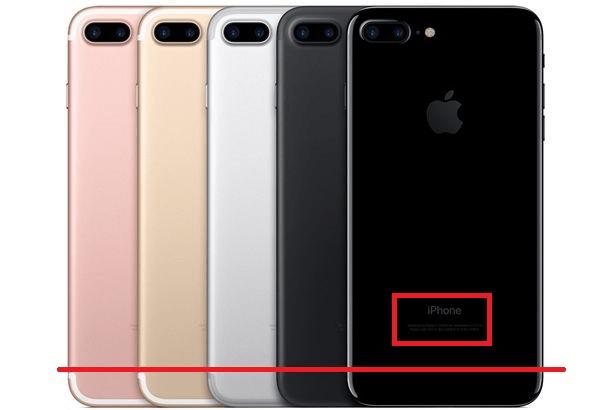 posición del letrero iPhone correcto