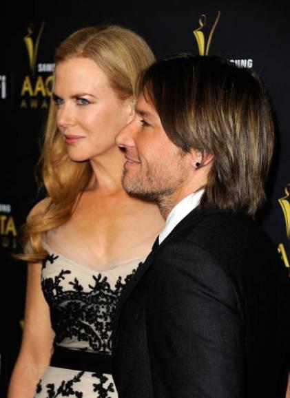 Nicole Kidman y su marido Keith Urban (AFP).