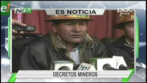 Titular de TV: COB. Reversión de concesiones mineras es positiva para el país