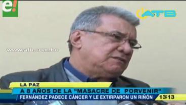 Leopoldo Fernández dice que tiene arresto domiciliario por el cáncer que padece