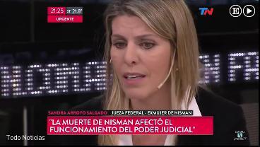 La exesposa del fiscal Alberto Nisman pide entre lágrimas la destitución del juez