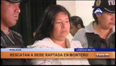 Policía presenta a la mujer que raptó a una bebé en Montero