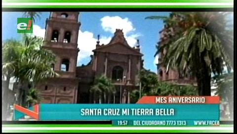 Aniversario de Santa Cruz: Inician festejos con misa, salud gratuita e izamiento de banderas