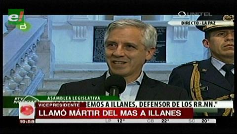 García Linera llamó mártir del MAS al viceministro Rodolfo Illanes