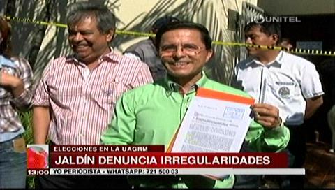 Alfredo Jaldín presenta de manera formal su renuncia a candidatura