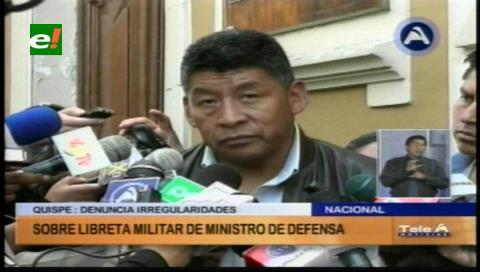 Montes: Si se evidencia irregularidades en la libreta de servicio militar de Ferreira, debe ser investigado
