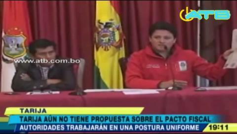 Tarija no tiene propuestas para debatir el pacto fiscal