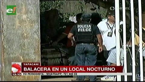 Yapacaní: Antisociales provocan balacera afuera de un local nocturno