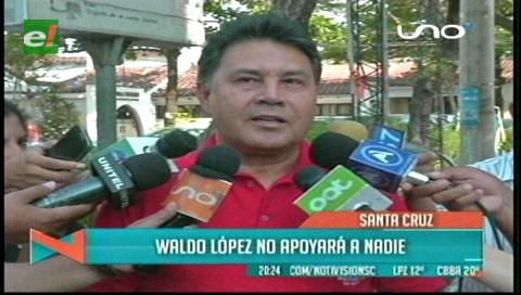 Uagrm: Waldo López no apoyará a ningún candidato para la segunda vuelta