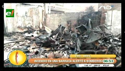 Santa Cruz: Bomberos sofocan incendio en una barraca
