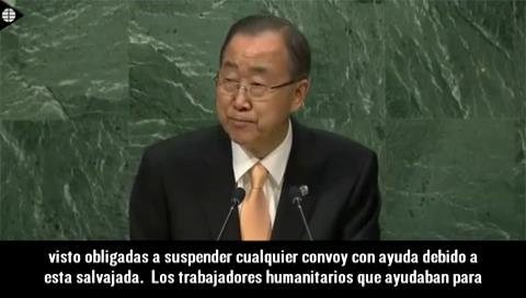 Ban Ki-moon se despide de los líderes mundiales en la ONU con su discurso más duro