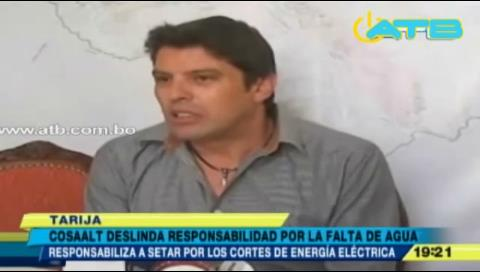 Cosaalt deslinda responsabilidad por falta de agua en Tarija
