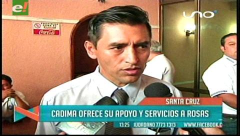 Uagrm: Cadima ofrece su apoyo y servicios a Rosas