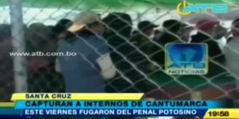 Capturan a reos que escaparon del penal de Cantumarca