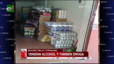 Encuentran drogas en una licorería del Segundo Anillo y Chiriguano