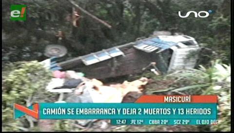 Heridos del accidente en Masicurí se recuperan en Vallegrande y Santa Cruz