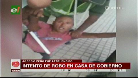 Funcionarios frustran un robo en la Casa de Gobierno de Santa Cruz