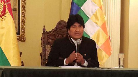 El presidente Evo Morales en la conferencia de prensa que ofreció este lunes 3 de octubre. Foto: Ángel Guarachi