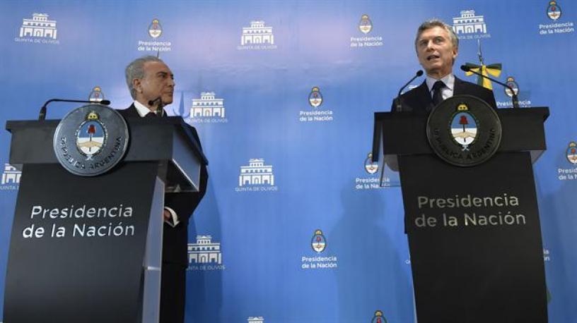 Buena sintonía entre Macri y Temer