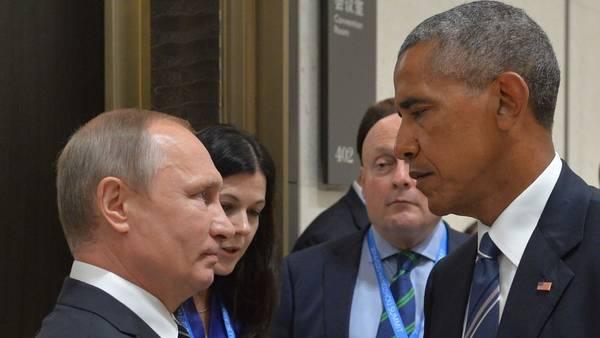 Enfrentados. Las frías miradas de Vladimir Putin y Barack Obama, en septiembre pasado, durante la reunión del G-20 en China. /AFP