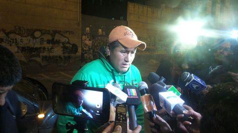 Llegada de Ángel Aparaya a la Fiscalía. Foto: Dennis Luizaga