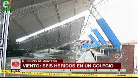 Santa Cruz, Dos tinglados se desploman en Montero y dejan al menos 5 heridos