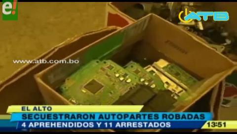 Secuestran autopartes robadas en un taller mecánico