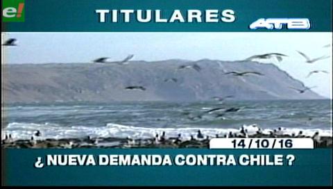 Titulares de Tv: Morales abre la posibilidad de demandar a Chile por daños económicos