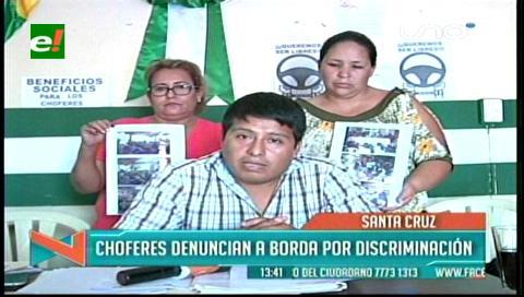 Choferes de micros denuncian a Rolando Borda por discriminación