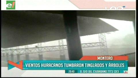 Alcaldía: Daños por vientos huracanados en Montero bordean los Bs 5 millones