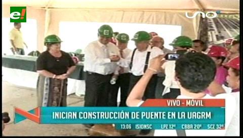 Se inicia construcción del nuevo puente en la Uagrm