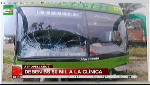Atropellados en Yapacaní piden al autor hacerse cargo de los gastos de la clínica