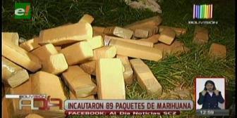 Felcn incautó 89 paquetes de marihuana