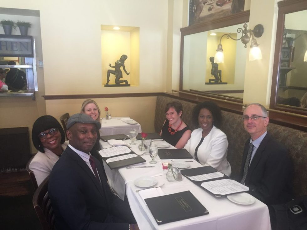 At lunch, after the White House meeting