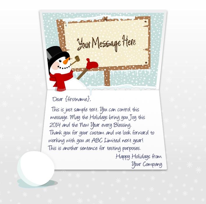 Christmas Cards Sample | cvfree.pro