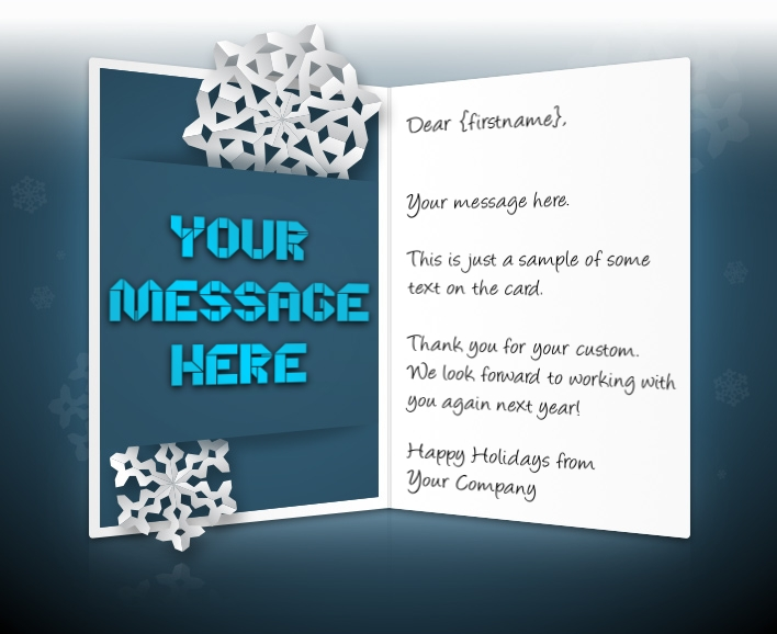 Christmas eCards for Business Electronic Xmas Holiday Cards - holiday greeting message