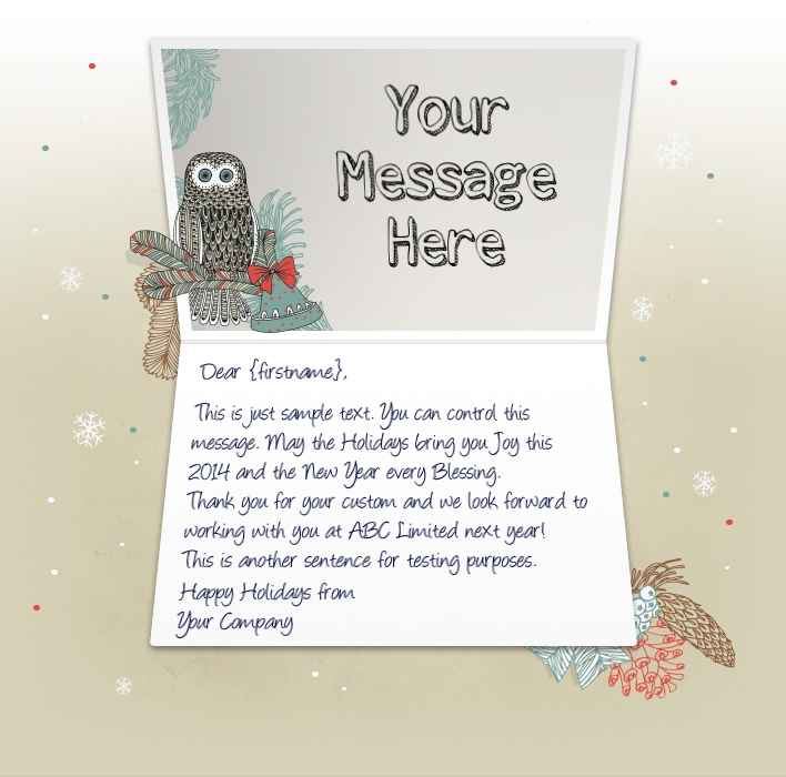 Christmas eCards for Business Electronic Xmas Holiday Cards - christmas cards sample
