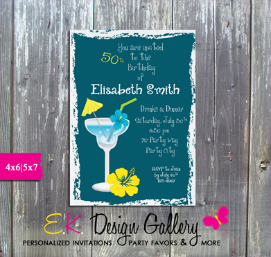 EK Design Gallary Birthday Party Invitations, Graduation
